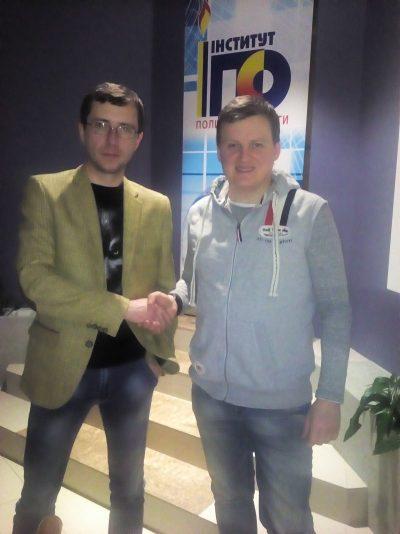 Володимир Чеславський та Мирон Дмитрик, шеф-редактор сайту «Стик-Корупції»